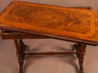 Super Quality Victorian Burr Walnut & Marquetry Card Table (5 of 12)
