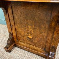 Spectacular Quality Victorian Figured Walnut Antique Davenport (9 of 9)