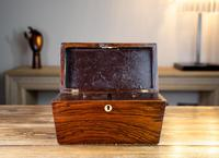 Early Victorian Rosewood Tea Caddy c.1840 (7 of 8)