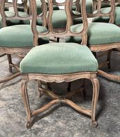 Set of 10 French Bleached Oak Farmhouse Dining Chairs (2 of 16)