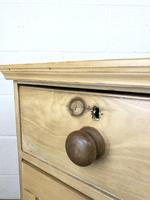 Small Victorian Antique Pine Chest of Drawers (14 of 15)