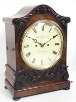 Antique English 8 Day Twin Fusee Bracket clock 8-Day Striking Double Fusee Mantel Clock By G Spiegelhalter & Co Whitechapel (11 of 13)