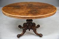 Antique Victorian Burr Walnut Tilt Top Table (12 of 12)