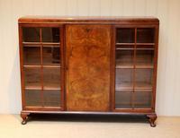 Burr Walnut Bookcase by Heals (2 of 11)