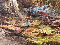 "20th Century Oil Painting Landscape Forest River ""View Through The Trees"" (10 of 20)"