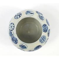 Chinese Blue & White Porcelain Globular Vase (3 of 6)