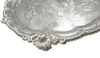 """Antique Edwardian Sterling Silver 11"""" Tray / Salver 1902 (5 of 8)"""
