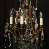 French Gilded 7 Light Antique Chandelier (8 of 10)