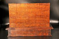 Late 19th Century Oak Slope Fronted Correspondence Box (4 of 5)