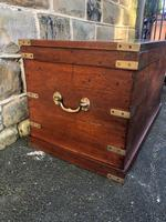 Antique Brass Bound Camphor Military Campaign Chest (4 of 11)