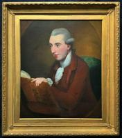 Circle: George Romney Exceptional large 18thc Portrait Oil Painting