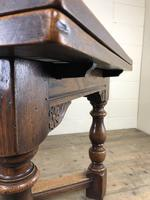 Extending Oak Draw Leaf Refectory Dining Table (5 of 17)