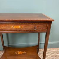 Elegant Edwardian Inlaid Mahogany Antique Side Table (6 of 6)