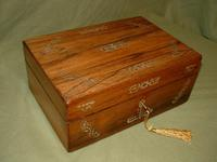 Inlaid Rosewood Jewellery –Table Box c.1850 (2 of 7)