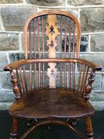 Antique Ash & Elm Windsor Armchair (3 of 10)