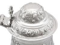 Sterling Silver Quart & Half Tankard - Antique George IV 1820 (8 of 15)