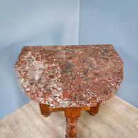 Pair of Marble Top Console Tables (6 of 10)