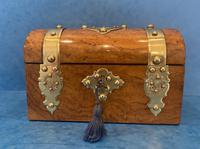 Victorian Brassbound Burr Walnut Stationary Box (3 of 11)