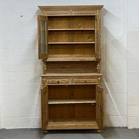 Very Tall Antique Pine Partly Glazed Dresser (2 of 8)