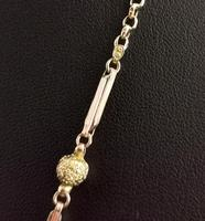 Antique 9ct Gold Fancy Link Chain Necklace, Edwardian (8 of 10)