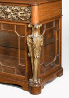 Mid 19th Century Satinwood Cabinet with Elaborate Giltwood Decoration (5 of 7)