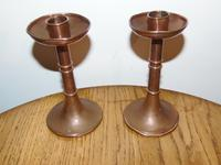 Pair of Copper Arts & Crafts Candlesticks (5 of 8)