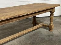 Nice Large Bleached Oak Farmhouse Dining Table With Extensions (16 of 35)