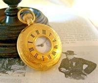Vintage Swiss Waltham Pocket Watch 1970s 17 Jewel 12ct Gold Plated Half Hunter FWO (3 of 12)