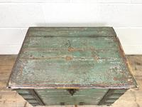 Distressed Painted Metal Bound Trunk (2 of 10)