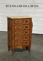Quality French Marquetry Taller Chest of Drawers (5 of 15)
