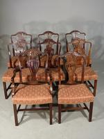 Good Set of 8 '6+2' Mahogany Framed Chairs by Marsh, Jones & Cribb