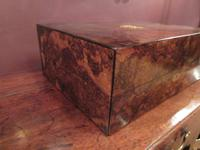 Superb Antique Burr Walnut London Jewel Box (3 of 8)