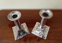 Superb Pair of Antique Solid Silver Candlesticks (7 of 8)