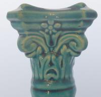 Antique Turquoise Burmantoft Leeds ware Candlestick Majolica Style c.1900 (5 of 9)