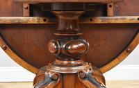 Victorian Burr Walnut Oval Tilt Top Breakfast Table (7 of 7)