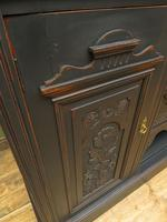 Art Nouveau Black Painted Sideboard, Gothic shabby chic (12 of 16)