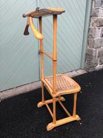 Unusual Beech Chair Valet Clothes Stand (4 of 7)