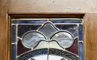 Victorian Art Nouveau Stained Glass Panel Door (7 of 9)