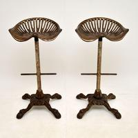 Pair of Antique Victorian Cast Iron Tractor Bar Stools (3 of 12)