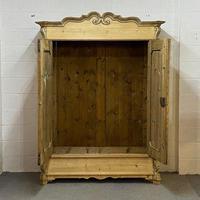 Beautiful Ornate Antique Pine Wardrobe - Dismantles (2 of 5)