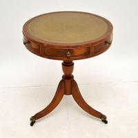 Regency Style Yew Wood Drum Table c.1930 (2 of 6)