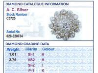 3.76ct Diamond & 9ct Yellow Gold Brooch / Pendant - Antique c.1880 (8 of 9)
