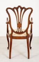 Pretty Mahogany Open Carver Chair (4 of 8)