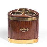 George III Mahogany & Brass Mounted Wine Cooler (2 of 4)