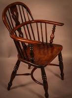 Ash & Elm Windsor Chair Stamped F Walker Rockley (3 of 10)