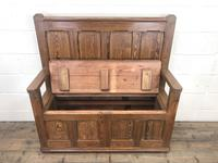 Rustic Pitch Pine Settle Bench (5 of 8)