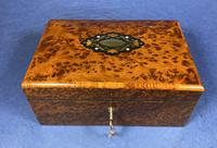 Victorian  French Burr Cedar Jewellery Box with It's Original Interior (7 of 13)