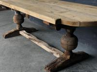 19th Century Rustic Oak Farmhouse Dining Table (10 of 23)