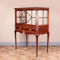Inlaid Mahogany Display Cabinet (9 of 12)