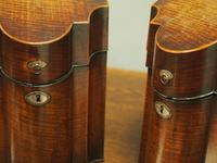 Pair of George III Inlaid Mahogany Cutlery Boxes (8 of 9)